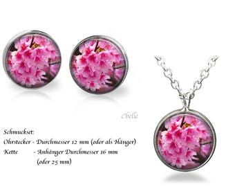 Jewelry Necklace and earrings-cherry blossoms-7