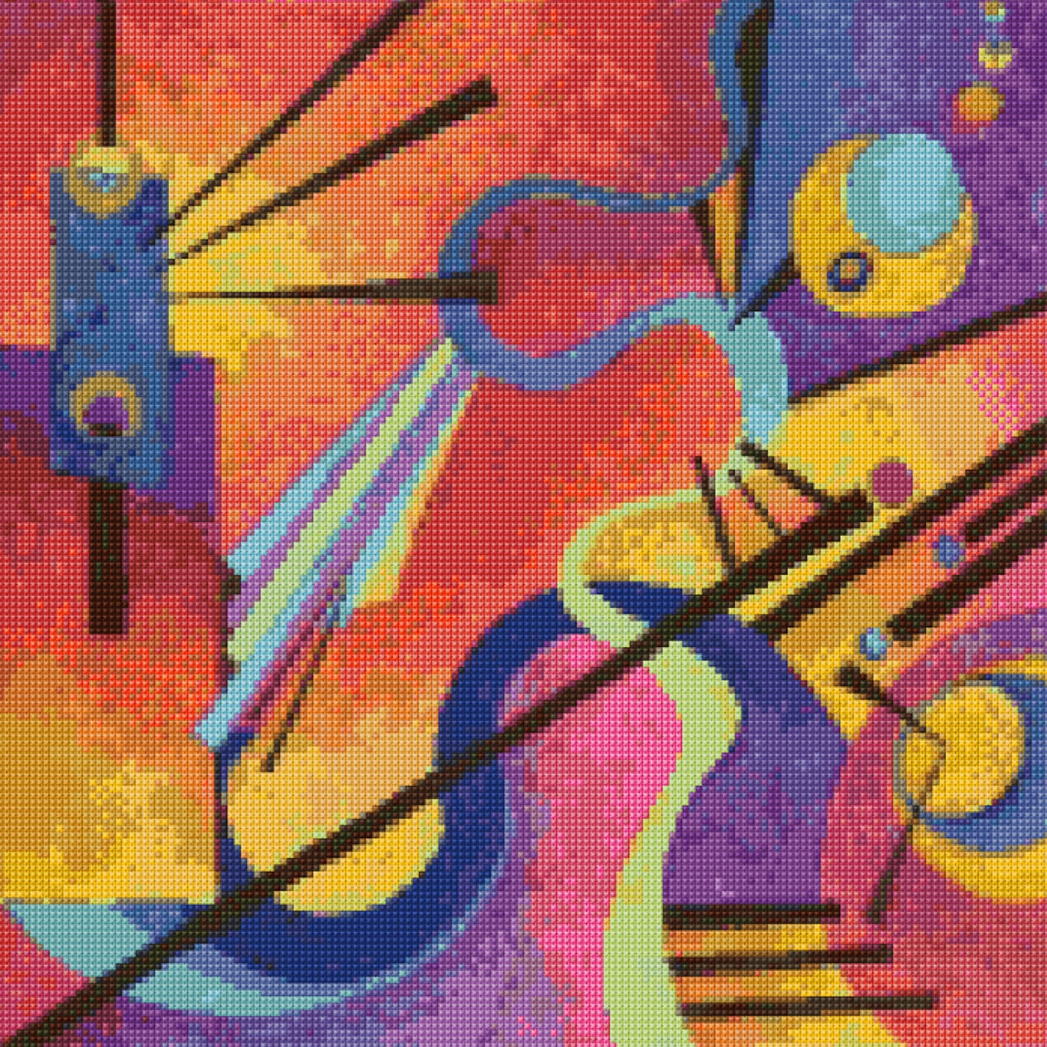 Kandinsky 2 abstract painting cross stitch pattern pdf zoom nvjuhfo Image collections