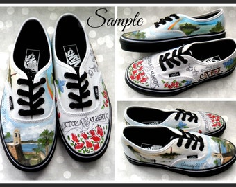 Bride's Love Story Shoes Unique Wedding VANS Wedding Flats Personalized Gift Wedding VANS Outdoor Wedding Gift Wedding Shoes Gift for Bride