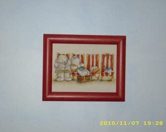 Humphrey beach-set of 2 embroidered cross stitch charts