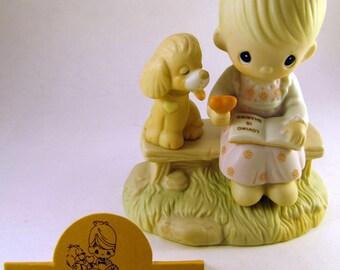 Vintage Enesco - Precious Moments -Loving is Sharing - E3110G (Heart) - Retired 1996
