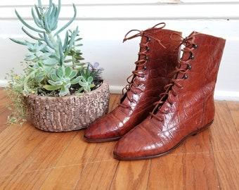 1980s Dead Stock Joan & David Italian Leather Ankle Boots
