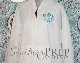 Monogrammed Lined Rainjacket  - Custom logo design available