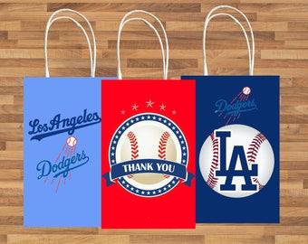 LA dodgers Favor Bag, LA dodgers Downloads, Los Angeles Dodgers Party Favors, Favor Bag Printables, Favor Download
