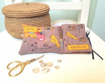 Little Bird Needle Case & Pin Cushion