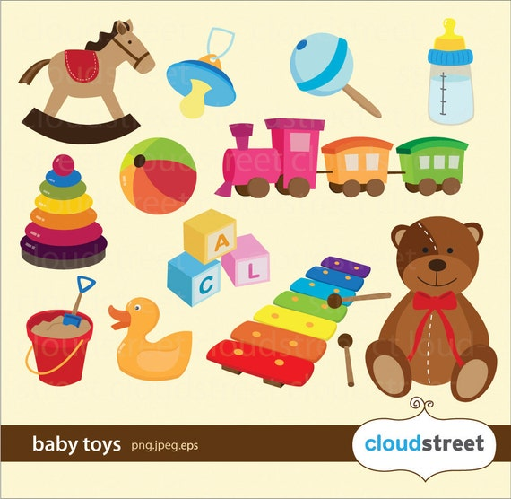 buy 2 get 1 free baby toys clipart baby toys clip art baby rh etsystudio com baby girl toys clipart baby toys clipart png