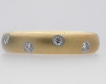 0.25 Carat T.W. Tiffany & Company Round Cut Diamond Band 18K Yellow Gold