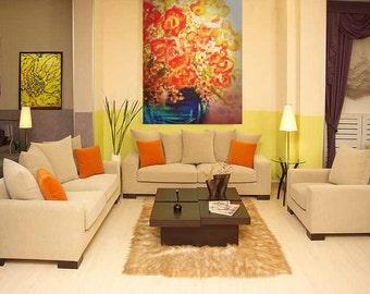 tropicana bouquet (36x48 canvas painting)