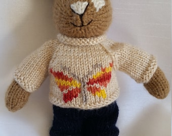 Knitted Bunny ...Biscuit