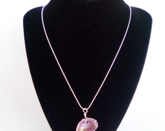 Real Pearl Inside Pink Pearl Painted Seashell Necklace