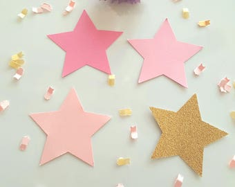Star die cuts(2 1/4in)PICK COLORS/Twinkle Twinkle Little stars/little star cut outs/Star theme/Large gold star die cuts/Star tags/Paper star