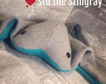 Stu The Stingray ORGANIC Inside & Out Plush