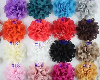 Chiffon Flower ,Hollow Fabric Flower For DIY Hair Accessories Supplies