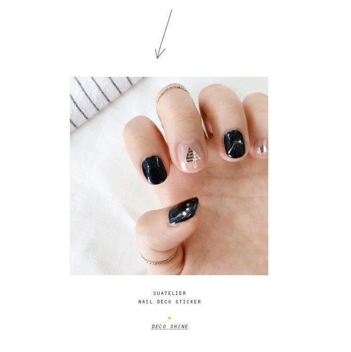 1058- deco shine Korean nail Sticker sheet Suatelier Kawaii sticker ...