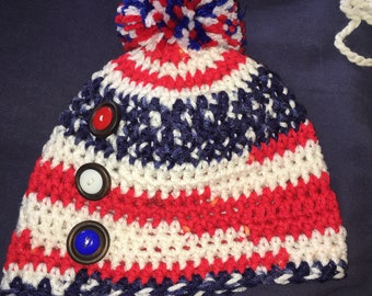 USA Handmade child's beanie
