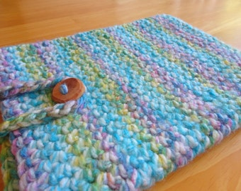 Crocheted Tablet Sleeve - iPad Cover - Tablet Cozy