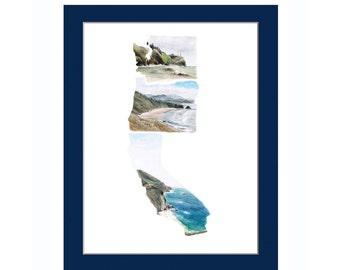 PNW Decor - West Coast Best Coast Print - West Coast Art - pnw print - pacific northwest art print - Oregon Print - WA Print - CA Art Print