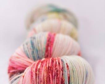 Hand-dyed yarn - sock yarn - superwash - merino - speckles - dyed-to-order - MANEGE