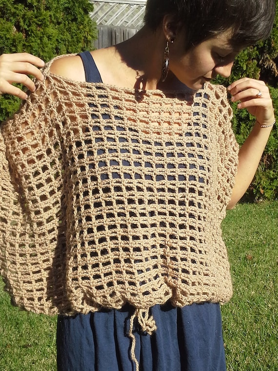 Crochet Poncho Sweater Pattern The Not A Poncho Top Pattern