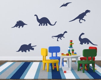 Dinosaur Wall Decals, Boy Bedroom Decor, Dinosaur Wall Stickers, Kids Wall Decals