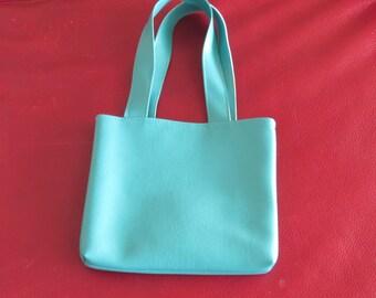 Little Girls Purse / Faux Leather Purse / Little Girls Tote / Faux Leather Bag / Turquoise  Leather / Bootsandbelle