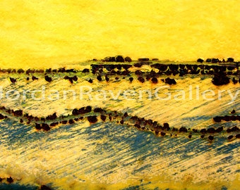 """Abstract Photography, Abstract Art, Fine Art Photography, Unique Art, Yellow, """"The Sea"""""""