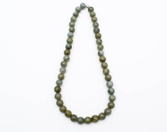 Use Code NEXT0RDER to get 10% off+ Free Shipping Olive Green Necklace, Green Jade Necklace, Nephrite Jade, Beaded Necklace Beaded Necklace,