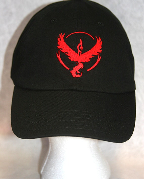 Pokemon Go Team Valor Red (Polo Style Ball Caps with Various Colors)