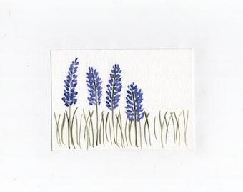 Watercolor lavender Postcards - watercolor postcard - blank postcard - blank watercolor postcards