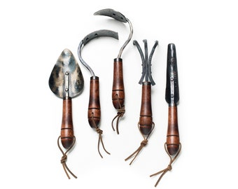 Garden Tool Set, Hand Forged Gardening Tools, Gardening Gift, Gardening  Tools, Garden Tools, Garden Tool Collection