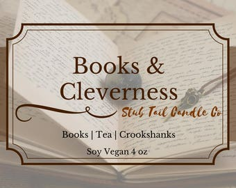 Books and Cleverness - Soy Scented Candle Inspired by Hermoine