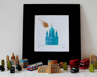 St. Paul's Cathedral London Gocco Print