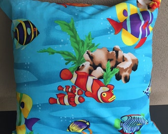 Reef Fish Cushion Cover