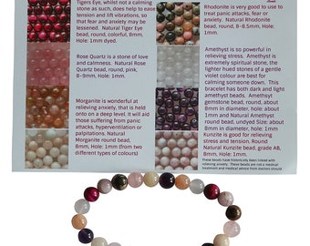 Anxiety Gemstone Bracelet Readymade with Elastic by Bertie's Beads