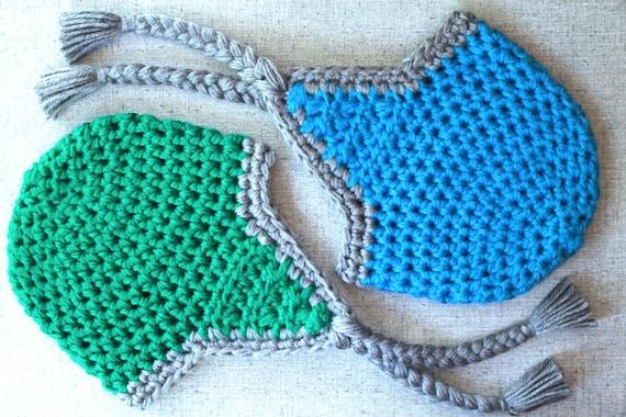 Crochet Pattern Chunky Crochet Earflap Hat With Braided
