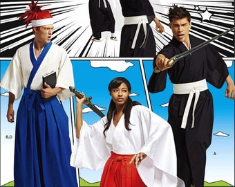Martial Arts Costume Pattern, Cosplay Warrior Costume Pattern, Sz XS to XL, Simplicity Sewing Pattern 8318
