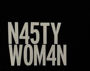 Nasty woman car decal