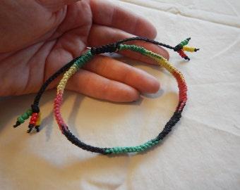 Rasta Anklet,Hemp Anklet,Rasta Anklet,Hemp Jewelry,Rasta Jewelry,Hippie Jewelry,Rastafarian Jewelry,Jamaican Jewelry,Rasta Colors,Rasta Hemp