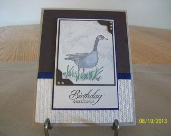 Wild Goose Birthday Card