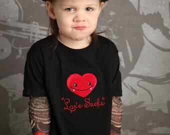 Love Sucks Vampire Valentine Tattoo Sleeve Shirt