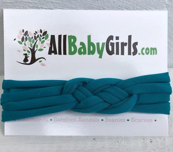 Knot Headband, Teal Green Headband, Baby HeadWrap, Green Turban, Celtic Knot Headband, Sailor Knot, Hair Wrap, Baby Headband, Baby Head Wrap