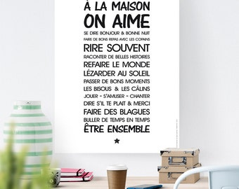 Digital file A1 - poster - home living - A rule - download, text, living room, entry, kitchen