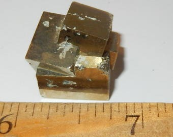 Pyrite Fools Gold Natural Cube cluster