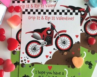 Dirt Bike Valentine for Kids
