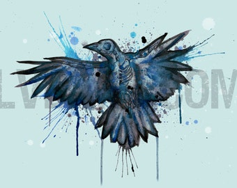 SkeleCrow Fine Art Print