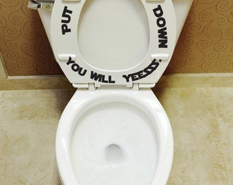 Put The Seat Down Yesssss Toilet Seat Decals Bathroom Kids Décor Toilet  Training Decal Funny Tub