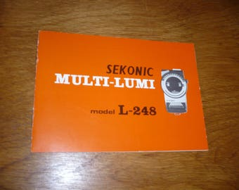 Sekonic Multi-Lumi L-248 Light Meter with box, case, and instructions 1970s