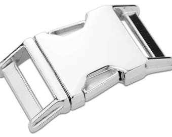 "25mm (1"") contoured side release buckle zinc (lot of 15)"