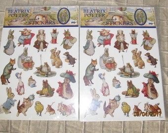 2 Packages New Old Stock Mello Smello Beatrix Potter World of Peter Rabbit Sticker Packs