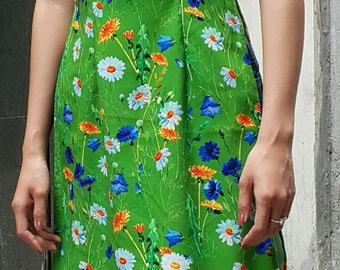Vietnamese dress, green dress, plus size tunic, holiday dress, kimono, hanbok, cheongsam, qipao